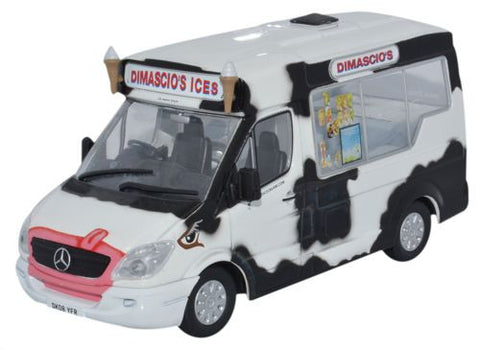 Oxford Diecast Whitby Mondial Ice Cream Van Dimascios - 1:43 Scale