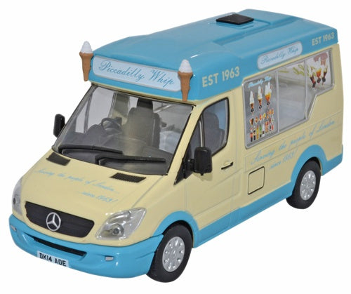 Oxford Diecast Whitby Mondial Ice Cream Piccadilly Whip