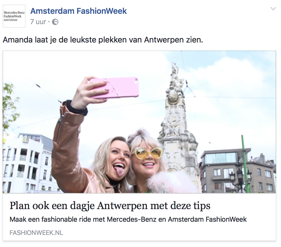 Amsterdam Fashion Week, Mercedes Benz & Antwerp Avenue
