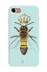 baby blue queen bee with crown shockproof iphone case