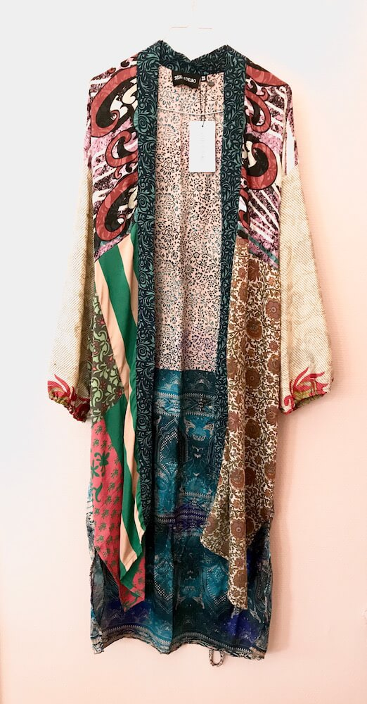 SISSEL EDELBO - MORNING GLORY LONG MIX POCKET KIMONO