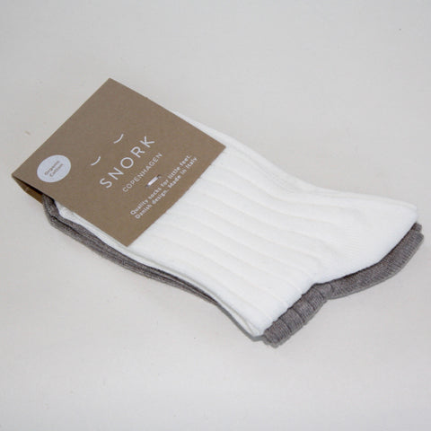 Organic Cotton Socks - 2-Pack Green/Off-white