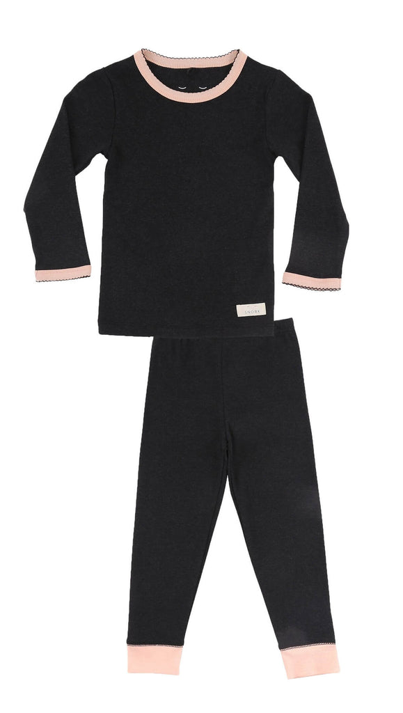 Black Lounge 1-6Y Girls Pyjamas