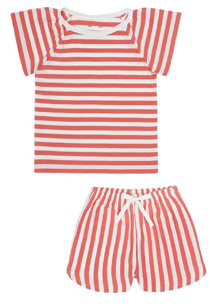 SELMA pyjamas shorts Lazy Red Stripes