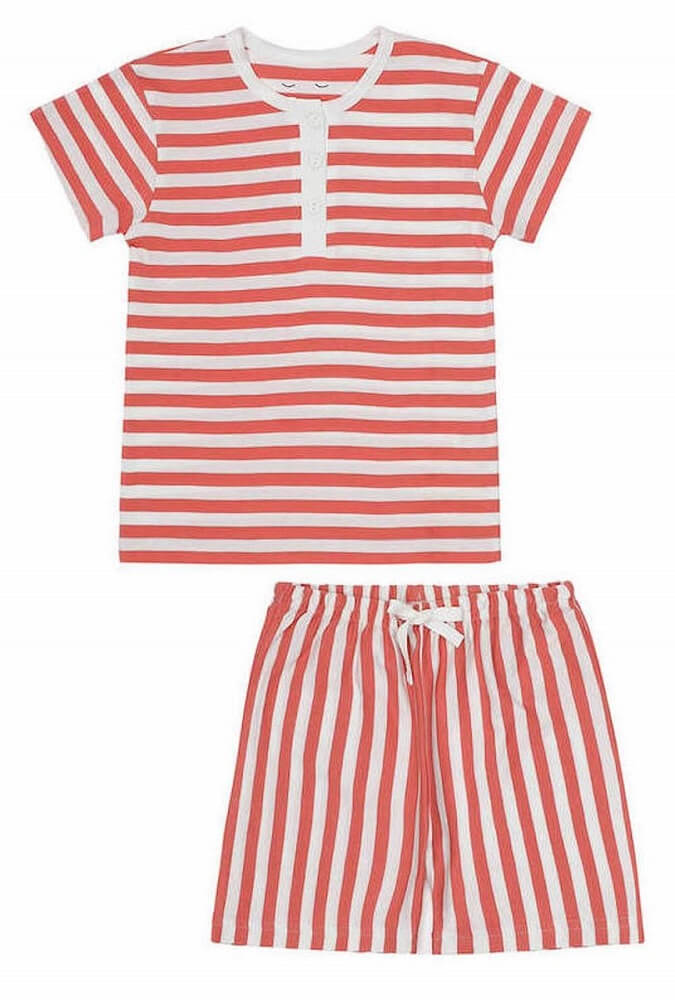VILHELM pyjamas shorts Lazy Red Stripes