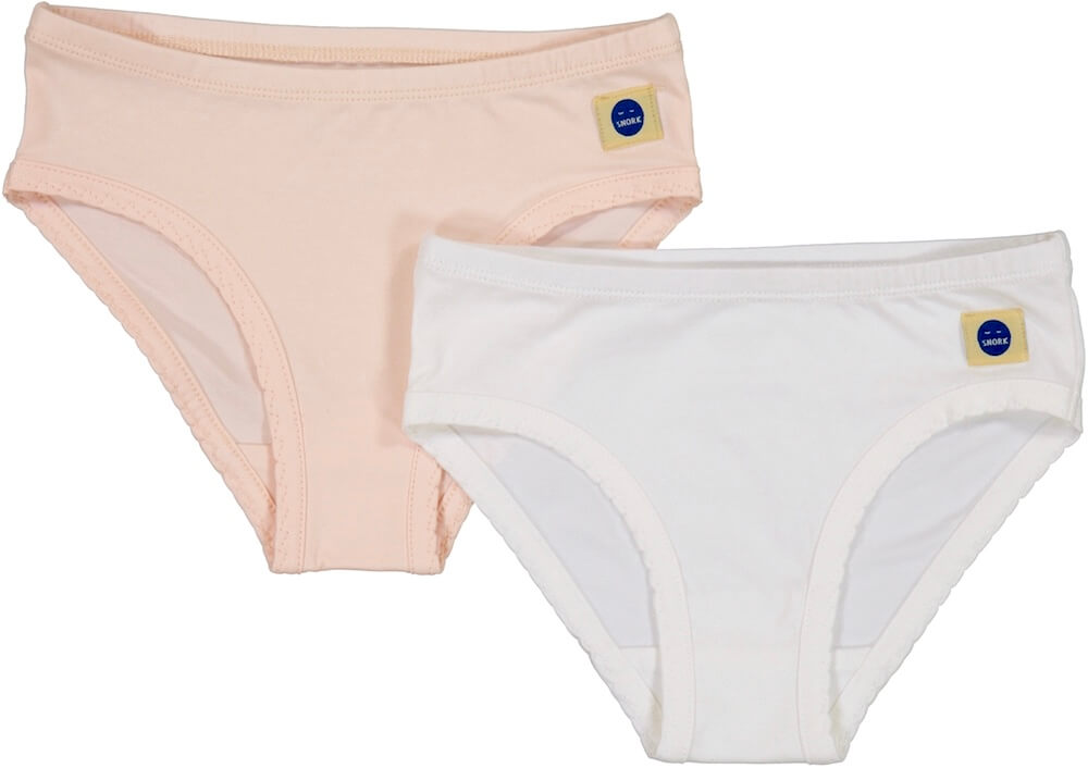 ANDREA girls pants 2-Pack White/Shell