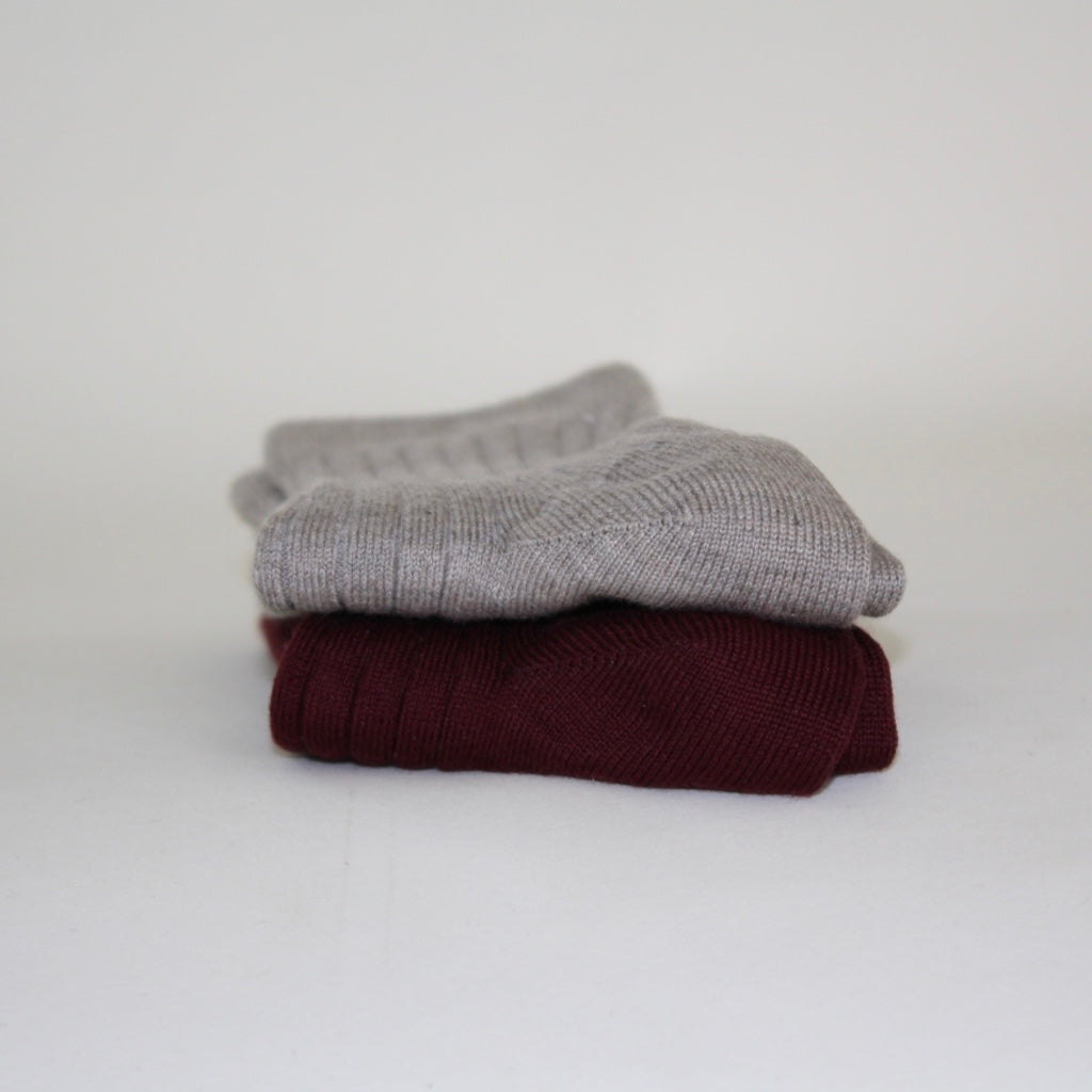Organic Cotton Socks - 2-Pack Burgundy/Earth