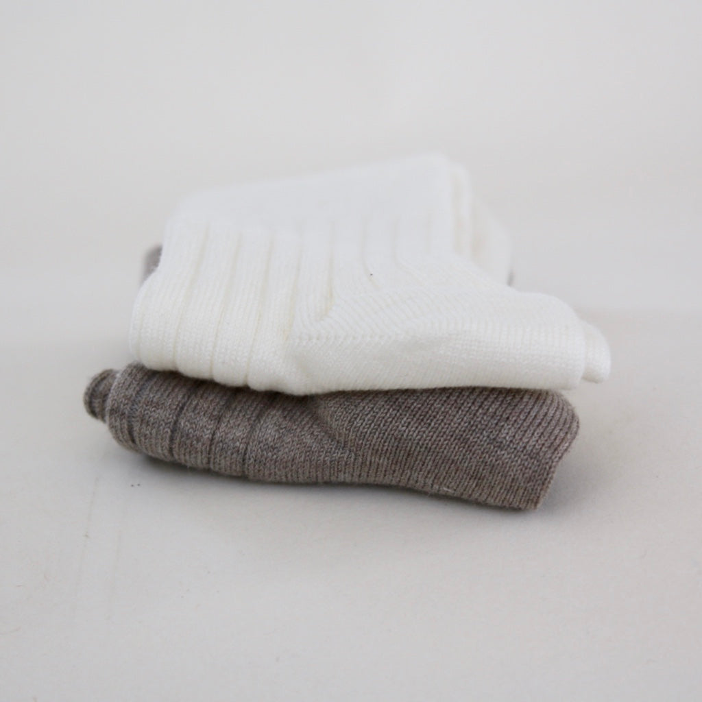 Organic Cotton Socks - 2-Pack Earth/Off-white