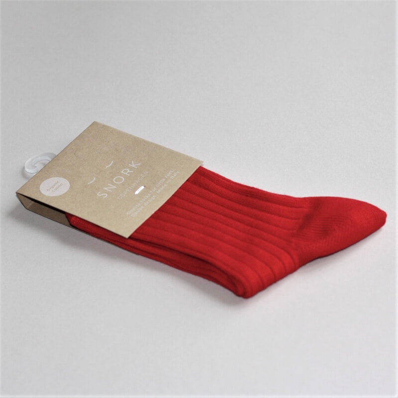Organic Cotton Socks RED