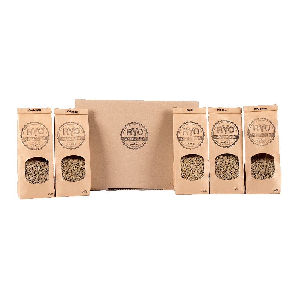 1.5kg assorted raw coffee beans variety pack
