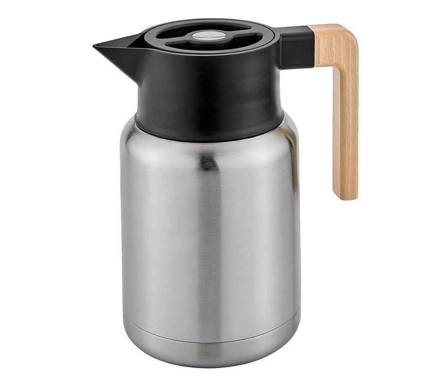 Insulator Vacuum Jug - S/S with wood handle - Cilio