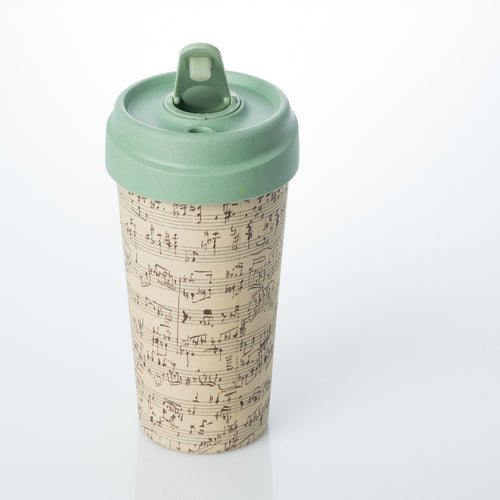 Bamboo Cup - Music Notes Cup - ChicMic