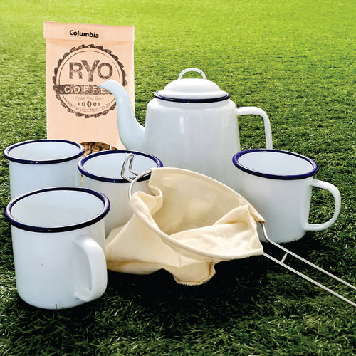 Outdoor Coffee Set with 300 g raw coffee beans