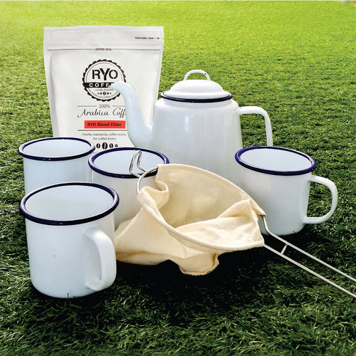 Outdoor Coffee Set with 250g Filter coffee