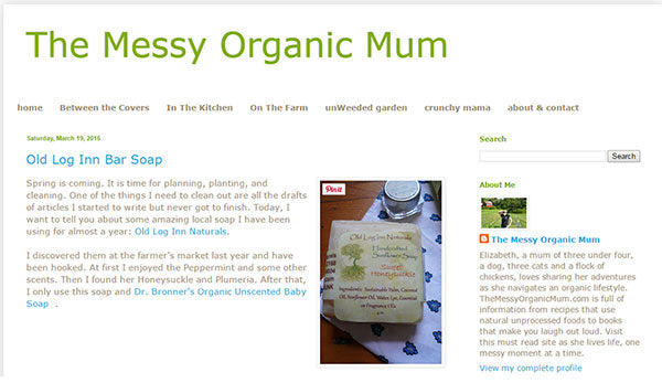 the messy organic mum