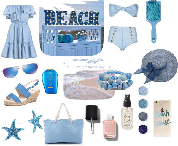 Blue and the beach