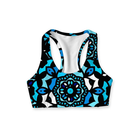 0c7eb654bbec0 Pineapple Clothing. Kaleidoscope Stella Seamless Racerback Sport Yoga Bra -  Women