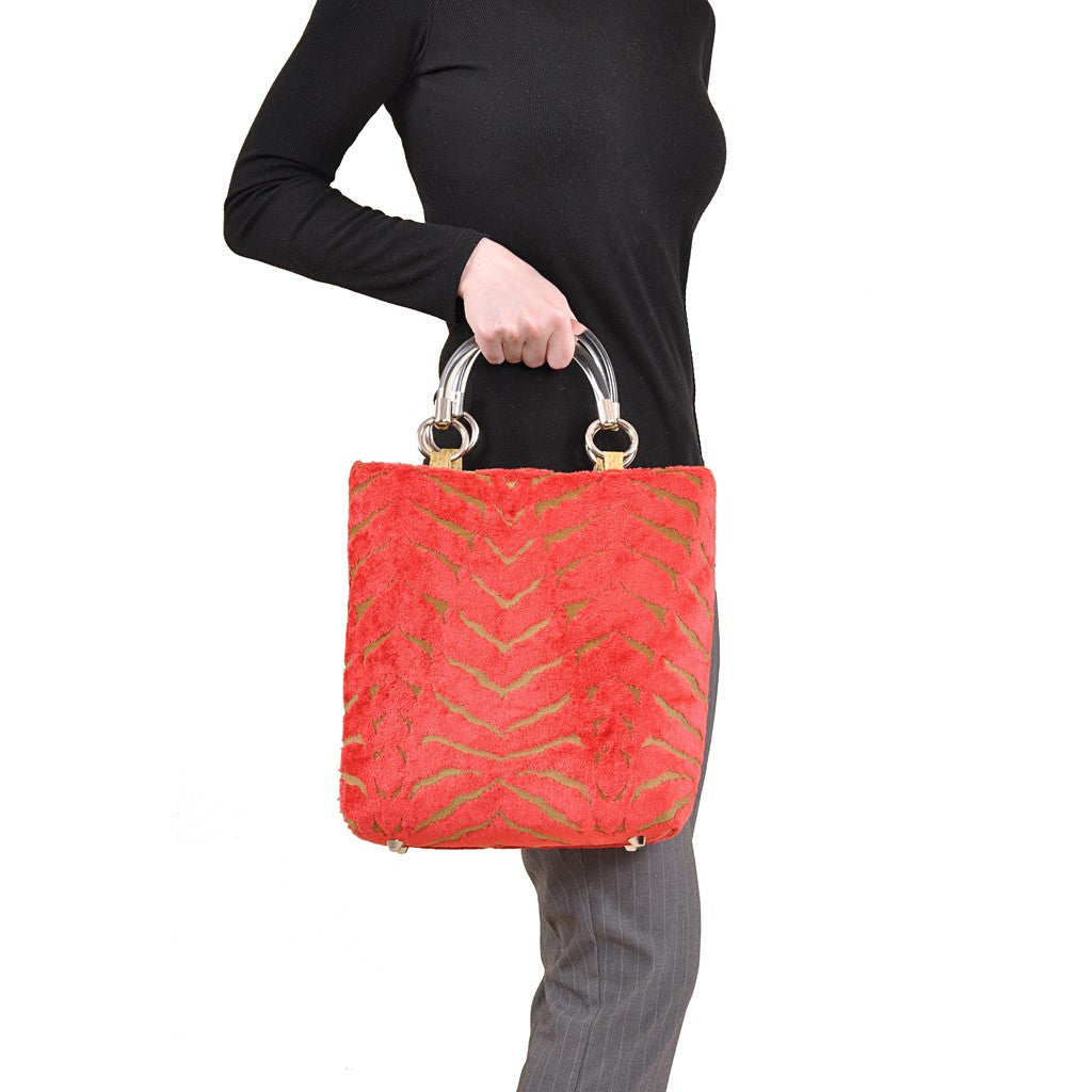 Magnetic Orange Small Tote