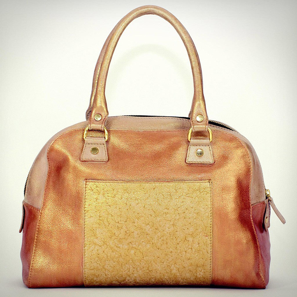 Gold Bowling satchel
