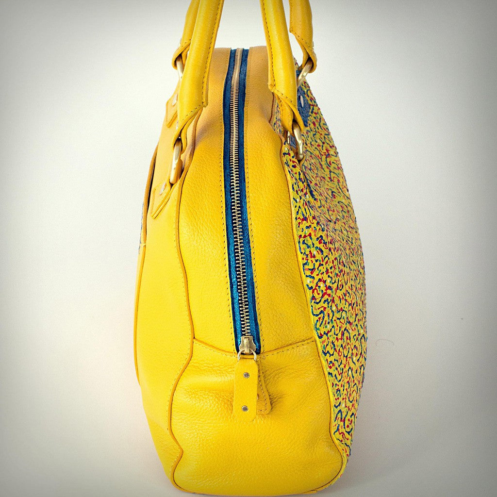 Sunshine Leather Bowling satchel