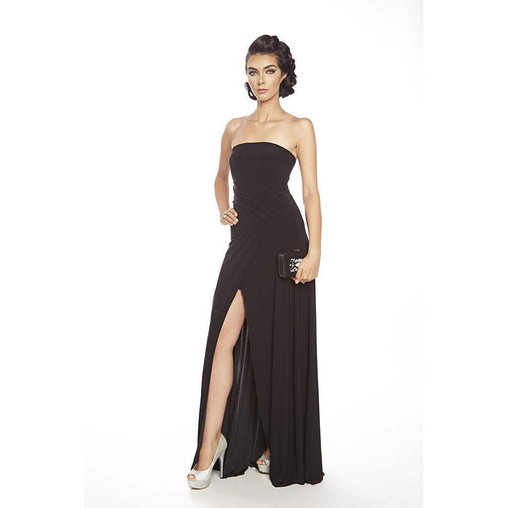 Strapless, Slit front, soft jersey gown
