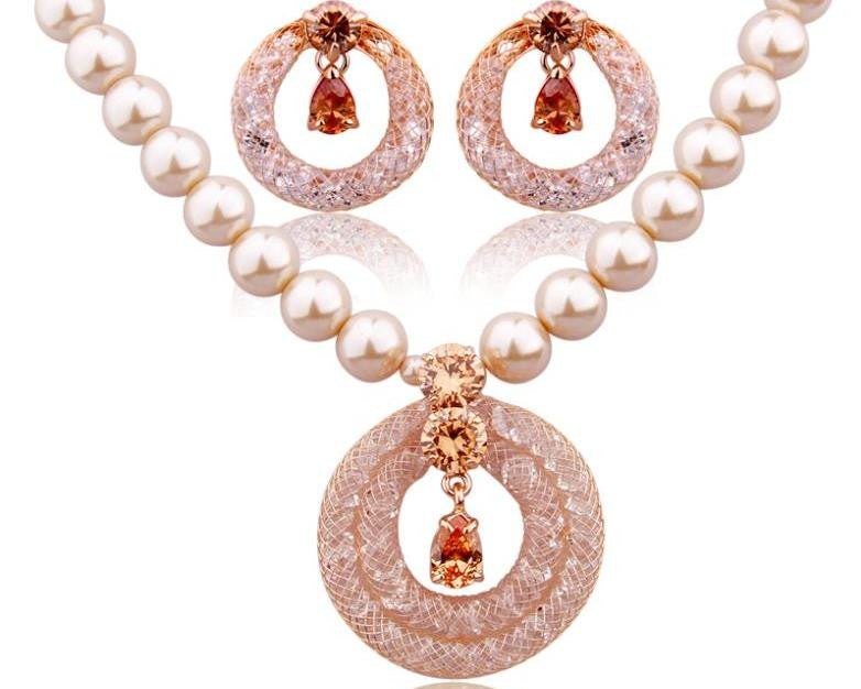 CHAMPAGNE GOLD JEWELLERY SET