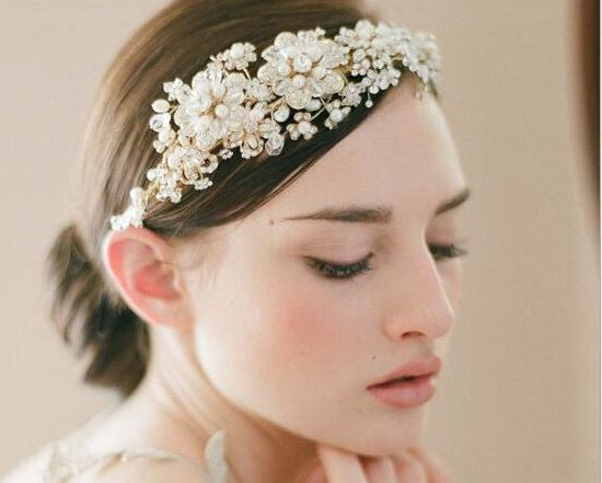 Wedding romantic crystal rhinestone headband