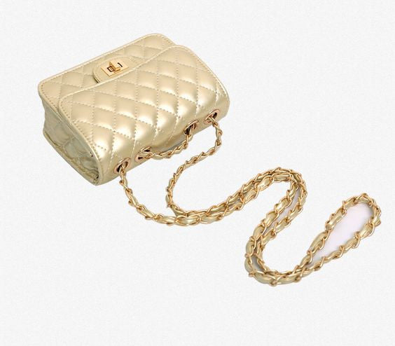 Gold Chain Messenger Crossbody Shoulder Bag