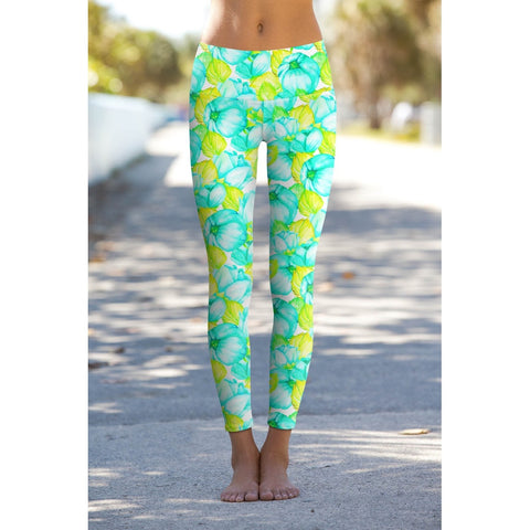 1ebe126a192 Pineapple Clothing. Sunny Day Lucy Summer Floral Print Performance Yoga  Leggings - Women