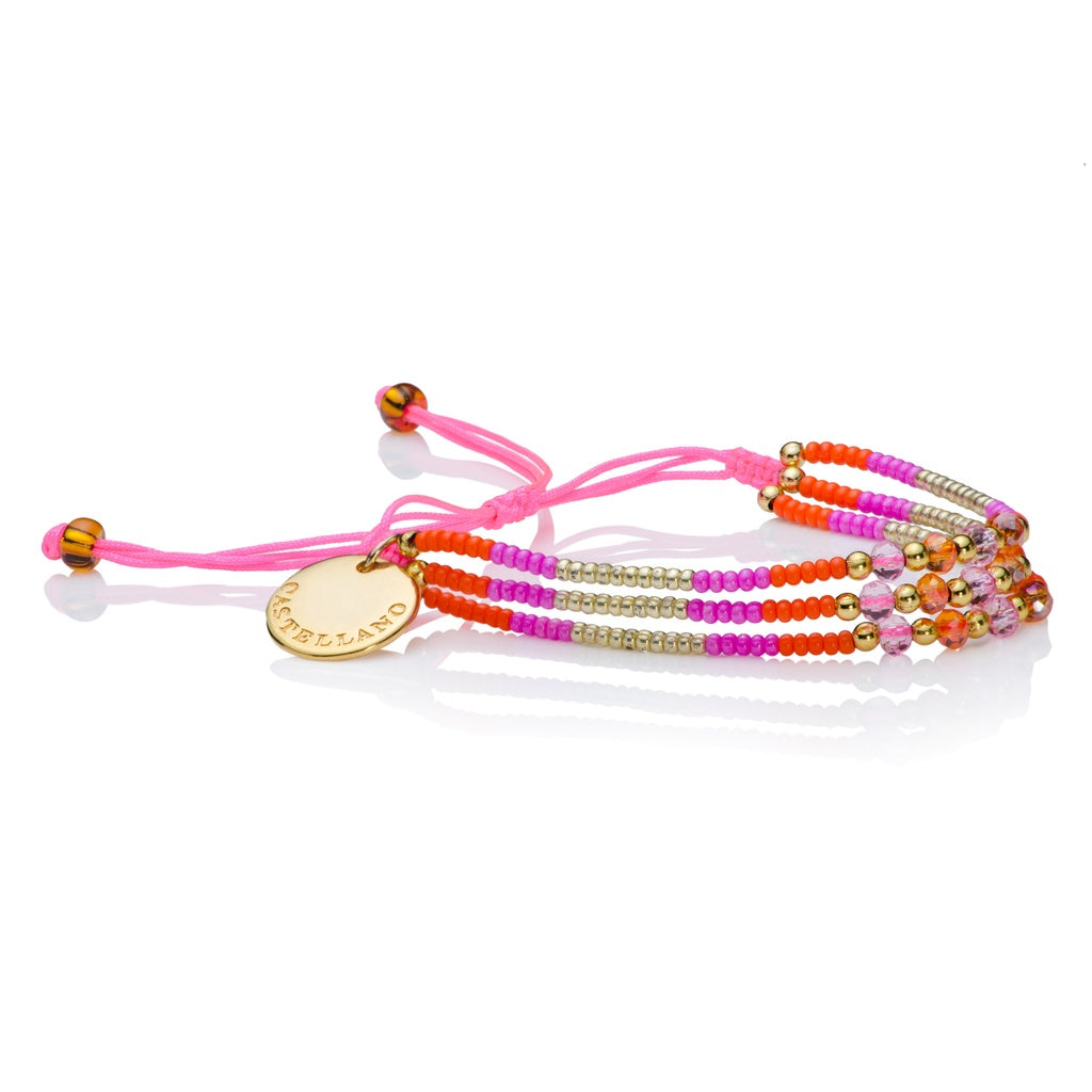 Love Yourself - beads bracelet (Pink) - Castellano