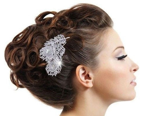 Romantic crystal rhinestone flower handmade headband