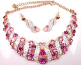 CRYSTAL RHINESTONE NECKLACE & EARRINGS