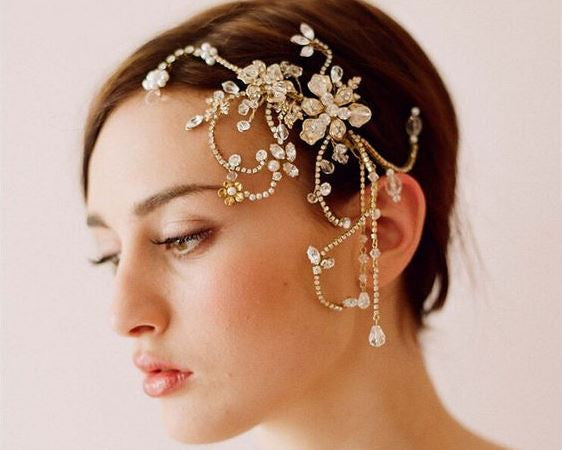 Wedding romantic crystal rhinestone hair comb