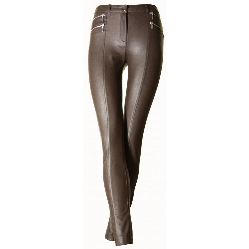 DULCE Brown slim trousers