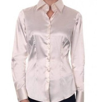 LUXURY CREAM SATIN SHIRT, DOUBLE CUFF