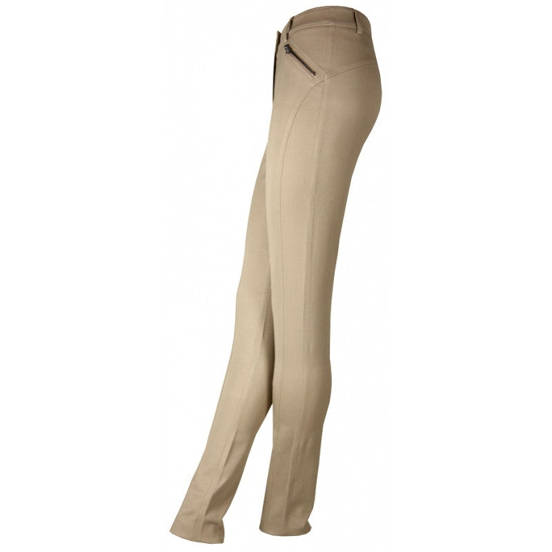 TEVA Cream slim trousers