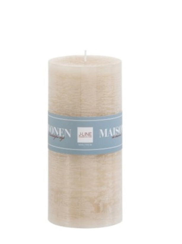 Cylinder Candle Sand - Applemoon Interiors
