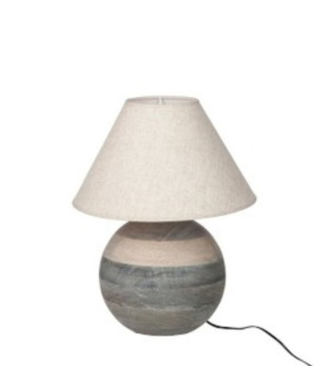 Lamp f+sh ball barn grey - Applemoon Interiors