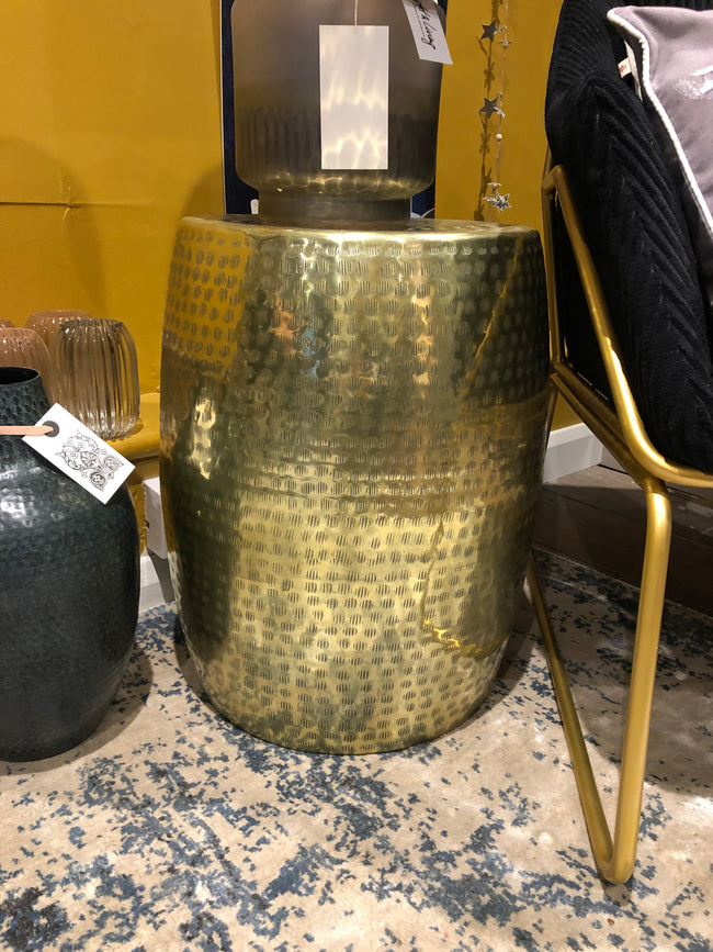 Gold Etched Drum Table - Applemoon Interiors