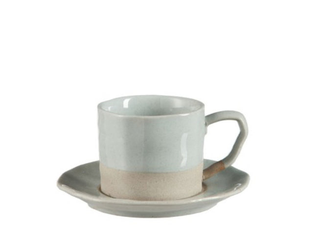 Coffee Cup and Saucer (L) - Applemoon Interiors