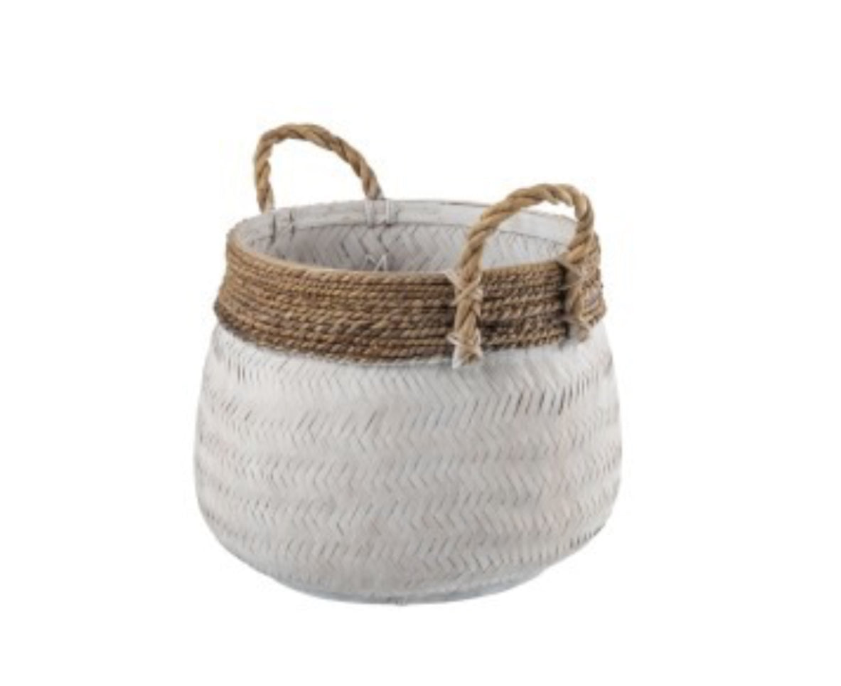 Basket with Handles - Applemoon Interiors