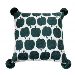 Apple Cushion Grey/White - Applemoon Interiors