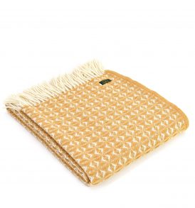 Lifestyle Throw Cob Weave - English Mustard - Applemoon Interiors