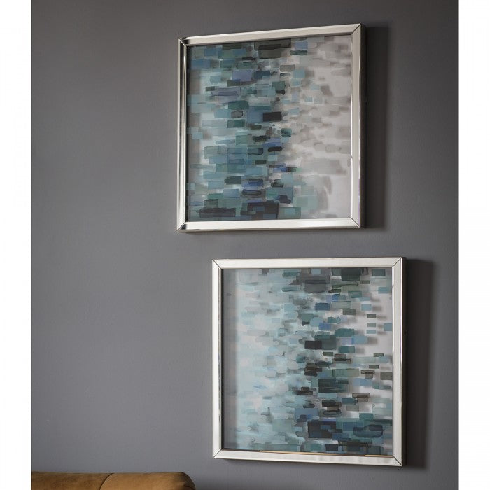 Cobalt Framed Art / Set of 2 - Applemoon Interiors