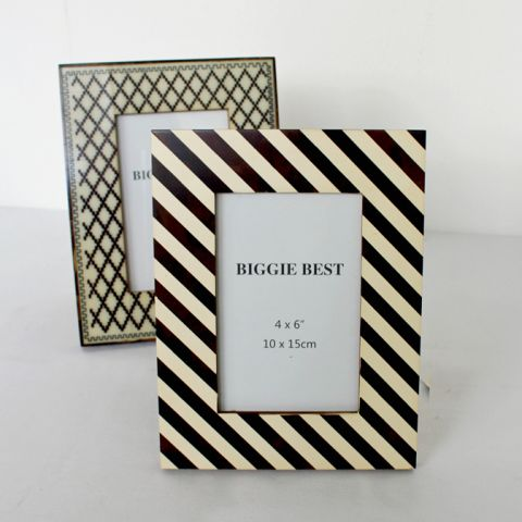 Brown Stripe Woodern Picture Frame - Applemoon Interiors