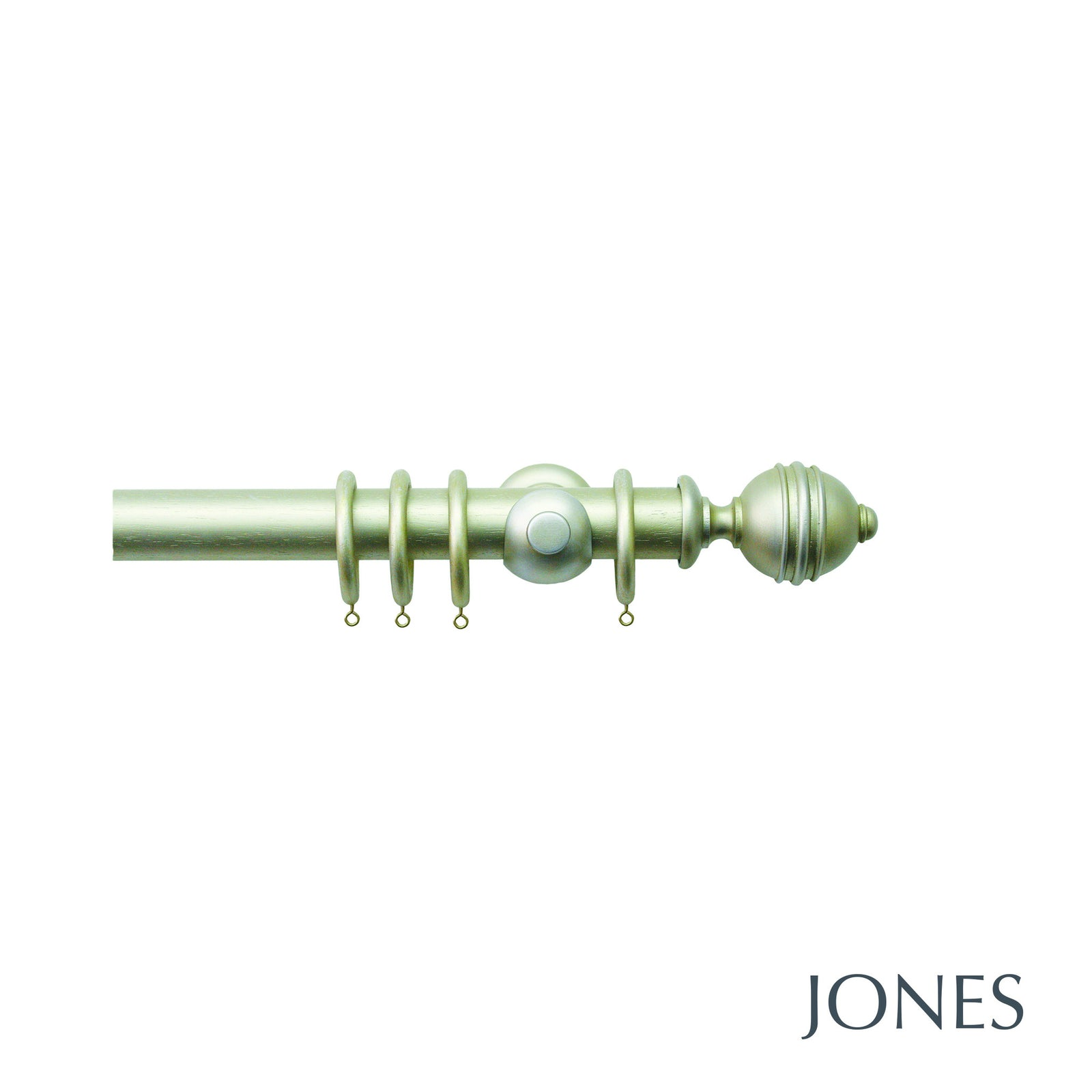 hardwick poles - ribbed ball finials - 40mm - Applemoon Interiors