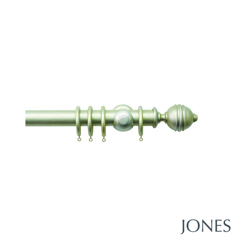 seychelles poles - plain ball finials - 40mm