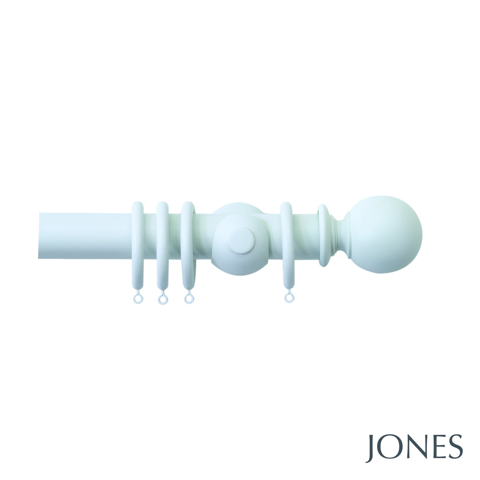 seychelles poles - plain ball finials - 40mm - Applemoon Interiors