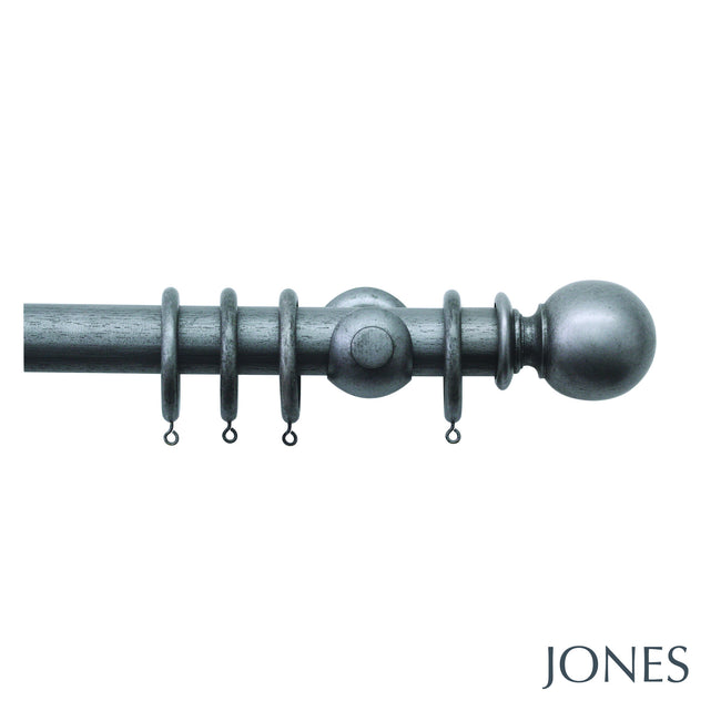 harwick poles - plain ball finials - 40mm - Applemoon Interiors