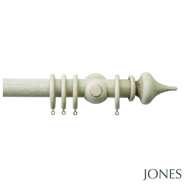 hardwick poles - minaret finials - 40mm - Applemoon Interiors
